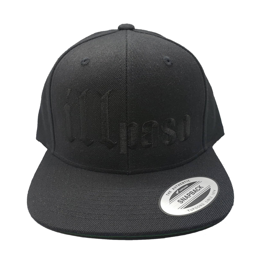 """illmatic Tribute"" Snapback Hat (Black on Black) by illpaso"