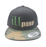 """illmatic Tribute"" Snapback Hat (Black w/ Camo Bill) by illpaso"