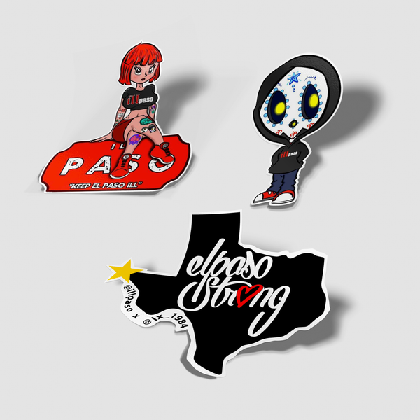 illpaso Sticker Pack - Set of 3
