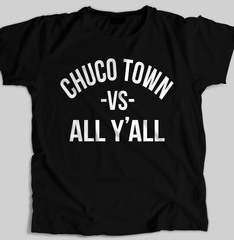 """Chuco Town vs All"" Men's T-shirt (Black) by Team Dirty"