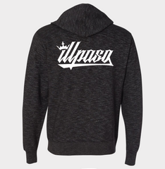 """Crown"" Unisex Zip Hooded (Black) by illpaso"