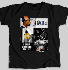 """illa Dilla"" Men's T-shirt (Black) by illpaso"