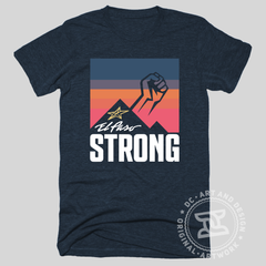 "El Paso Strong ""Sunset"" T-shirt (Midnight Navy) by DC Design"