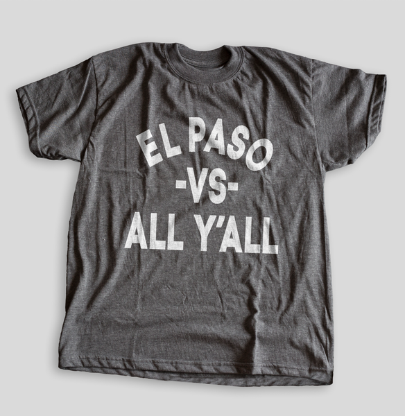 "El Paso vs All"""" Men's T-shirt (Gray Heathered) by illpaso"