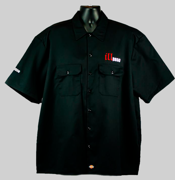 """illmatic Tribute"" Men's ""Boom"" Industrial Work Shirt (Black) by illpaso"