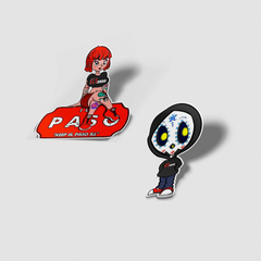 Pre-Order illpaso characters Sticker Pack - Set of 2