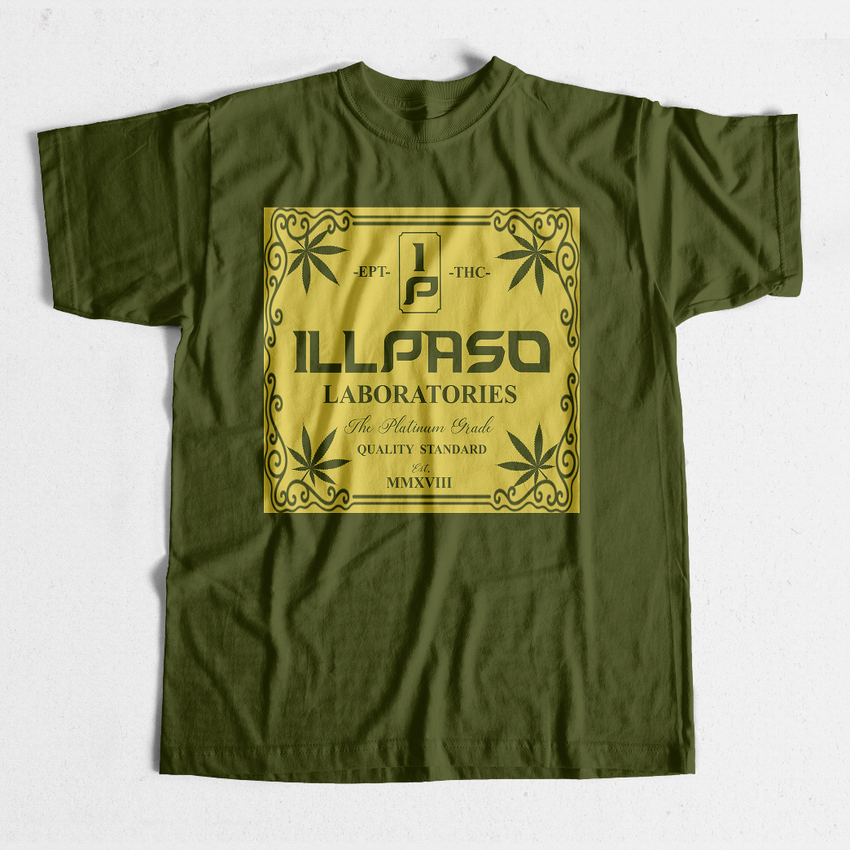 """illpaso Laboratories"" Men's T-shirt (Dark Green) by Lobesmatic"