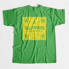 """illpaso Laboratories"" Men's T-shirt (Green) by Lobesmatic"