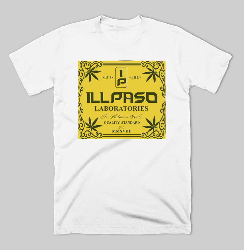 """illpaso Laboratories"" Men's T-shirt (White) by Lobesmatic"