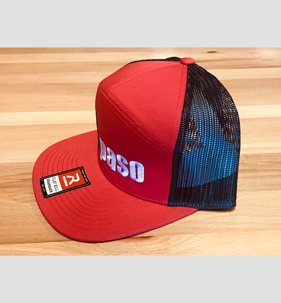 """illmatic Tribute"" 7- Panel Trucker (Red and Black) Unisex Cap"
