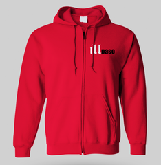 """illmatic Tribute"" Men's Zip-up Hoodie (Red)"