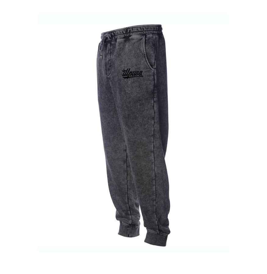 """Kingz Crown"" Mineral Wash Fleece Pant (Black)"