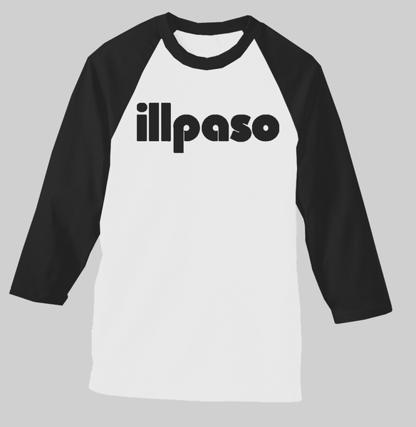 """Diablos Tribute"" Men's Raglan (White w/ Black Sleeves) by illpaso"