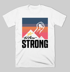 "El Paso Strong ""Sunset"" T-shirt (White) by DC Design"