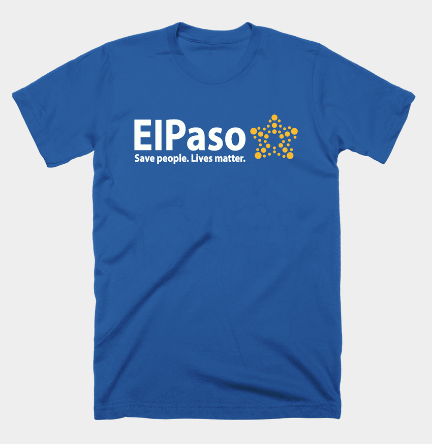 """El Paso Save People. Lives Matter"" Men's T-shirt (Blue) by DC Design"