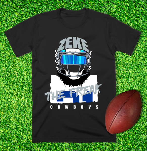 """Zeke The Freak"" Unisex T-shirt (Black) by DC Design"
