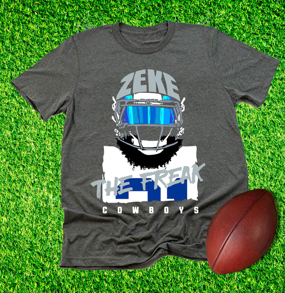 """Zeke The Freak"" Unisex T-shirt (Dark Grey Heather) by DC Design"