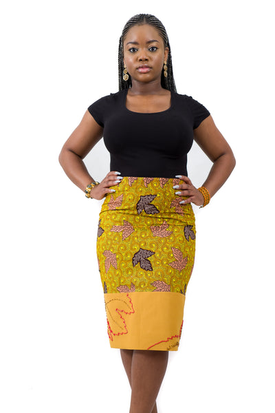 Ankara Beaded Skirt
