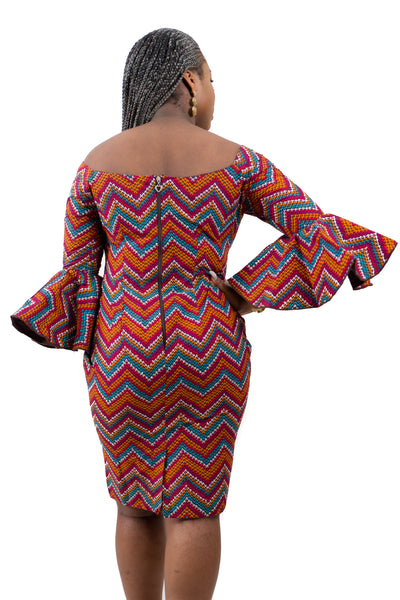 Ankara Stoned Dress