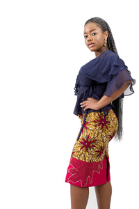 Beaded Ankara Skirt