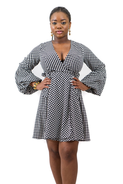Polka Wrap Dress