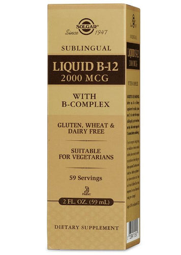 Solgar Sublingual Liquid B-12 2000 mcg with B-Complex - 2 fl. oz