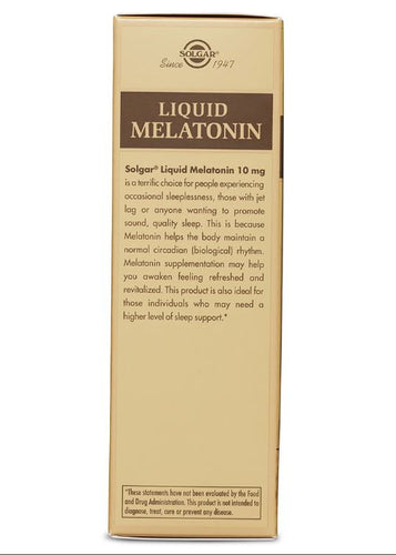 Solgar Liquid Melatonin 10 mg - Natural Black Cherry Flavor