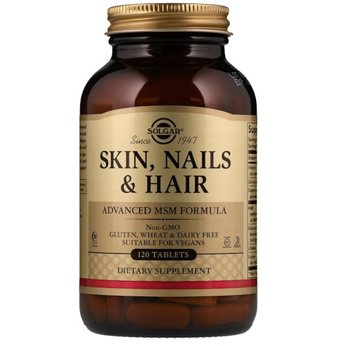 Solgar Skin, Nails & Hair, Advanced MSM Formula, 60+20 Bonus Tablets
