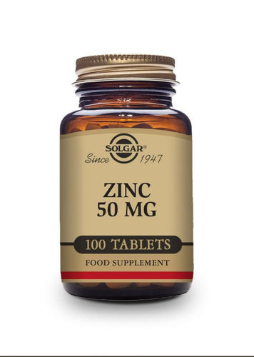 Solgar Zinc 50 mg Tablets-Pack of 100