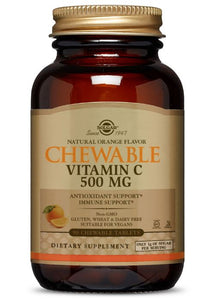 Solgar Vitamin C 500 mg Chewable Tablets - Orange Flavor