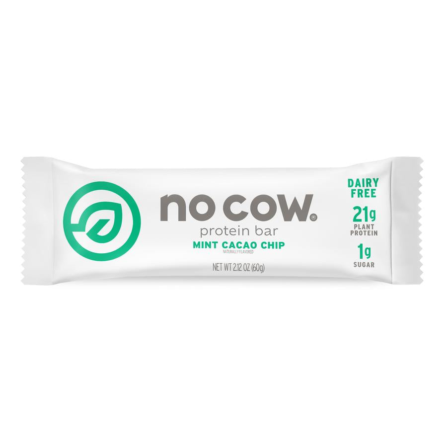 No Cow Mint Cacao Chip Protein Bar