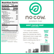 Load image into Gallery viewer, No Cow Mint Cacao Chip Protein Bar