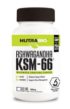 Load image into Gallery viewer, NutraBio Ashwagandha KSM-66