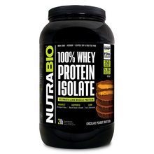 Load image into Gallery viewer, NutraBio 100% Whey Protein Isolate