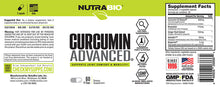 Load image into Gallery viewer, NutraBio Curcumin Advanced