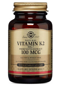 Solgar Naturally Sourced Vitamin K2 (MK-7) 100 mcg Vegetable Capsules