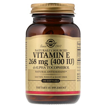 Load image into Gallery viewer, Solgar Vitamin E 268 mg (400 IU)