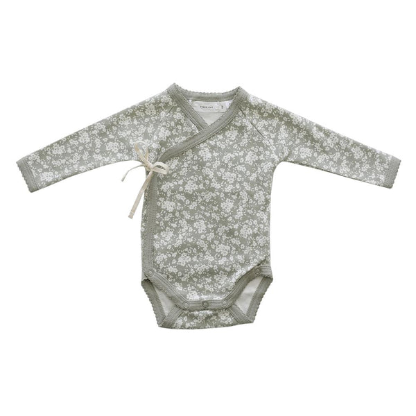 Organic Cotton Wrap Bodysuit