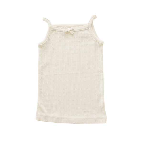 Pointelle Cotton Singlet