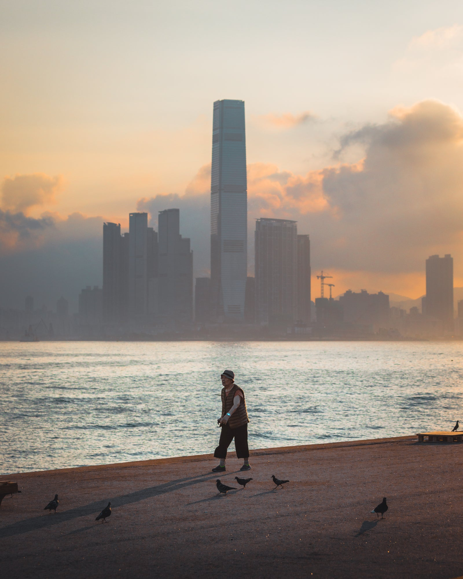Local Walking at Instagram Pier, Hong Kong