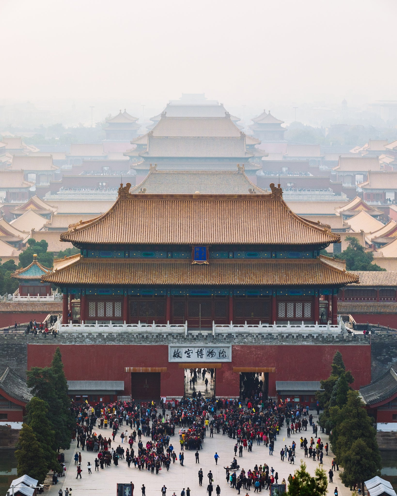 View of the Forbidden City from Jingshan Park, Beijing, China