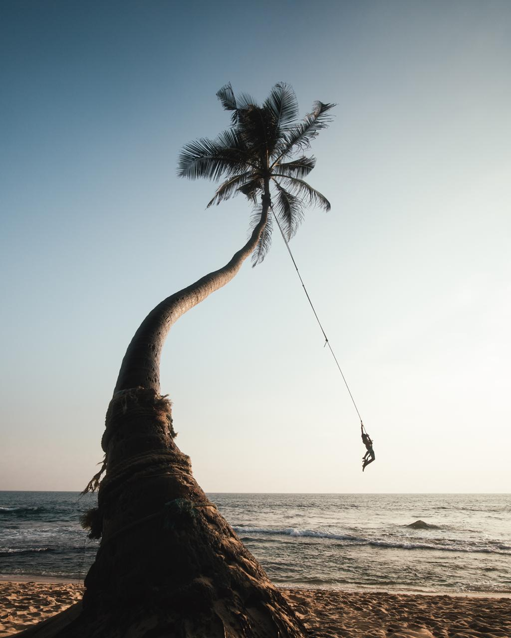 Dalawella Beach Rope Swing, Sri Lanka