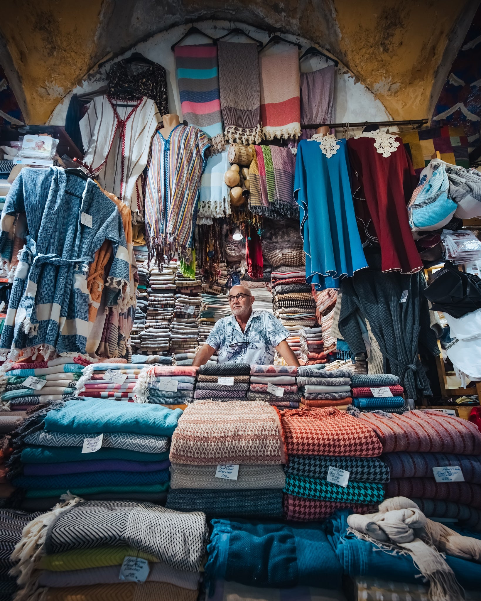 Local vendor at Grand Bazaar, Istanbul, Turkey.