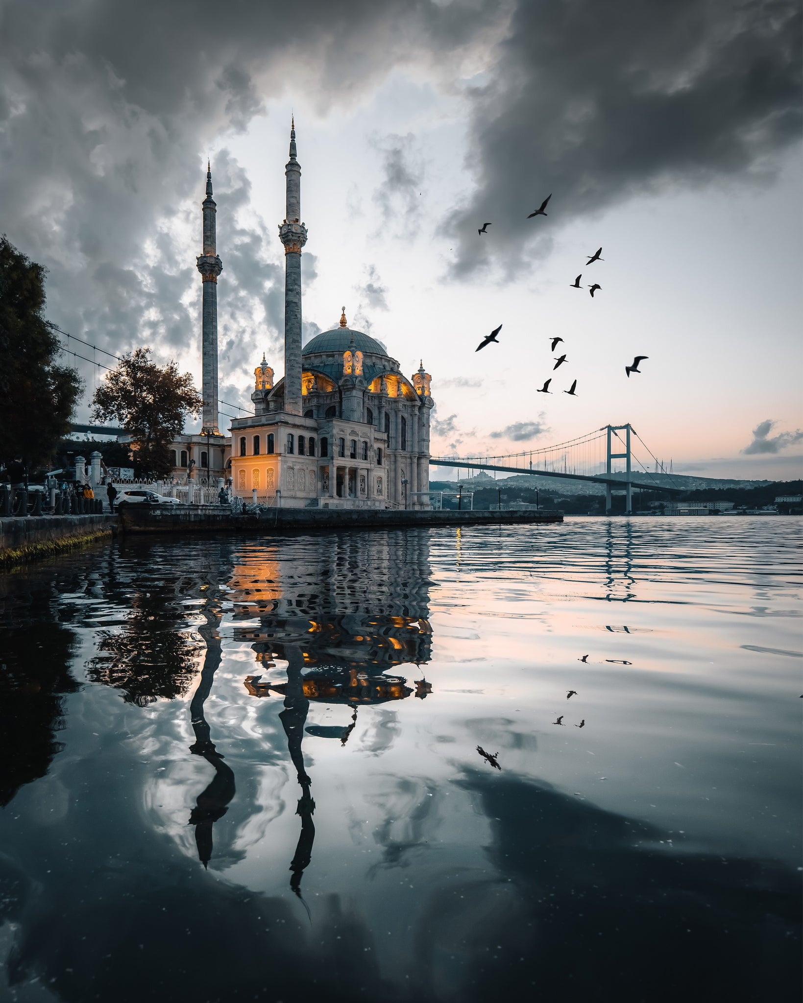Sunrise at Ortakoy Mosque, Istanbul, Turkey.