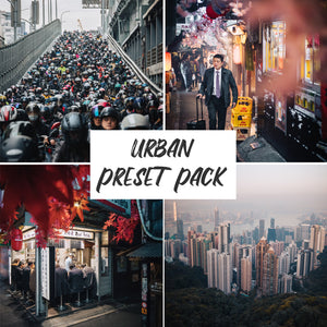 Cover photo for the Jord Hammond Urban Preset Pack, with 4 examples of the presets in use in this pack.