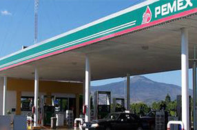 Pemex gas station with roof
