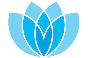 Prodigy finance logo abstract of blue blossoming flower