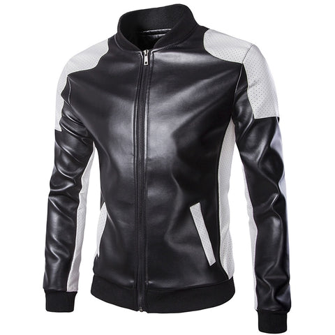 Slim Fit Bikers PU Leather Jackets for Men