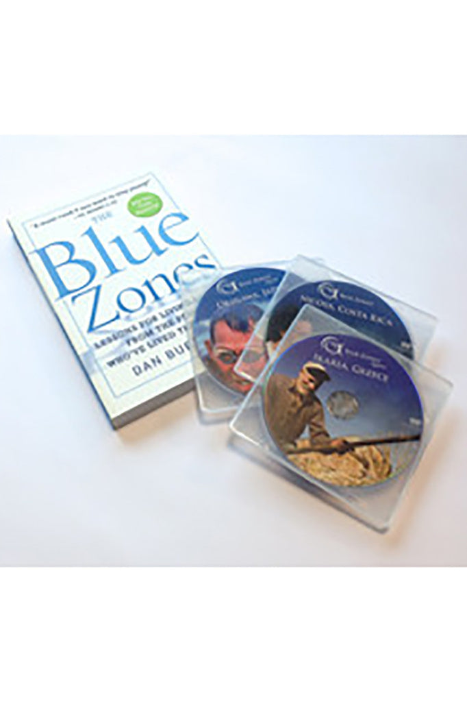 Blue Zones Three DVDs and The Blue Zones Second Edition Signed Paperback