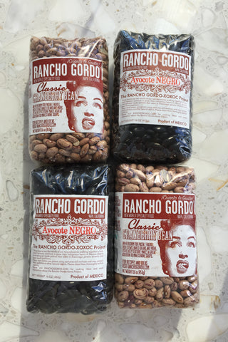 Rancho Gordo Ayocote Negro and Cranberry Beans